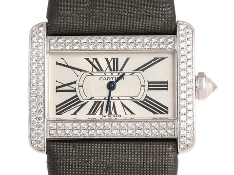 Cartier 18K Gold Ladies Diamond Divan Watch