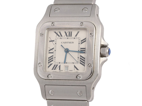 Cartier Stainless Steel Santos Galbee Midsize Watch