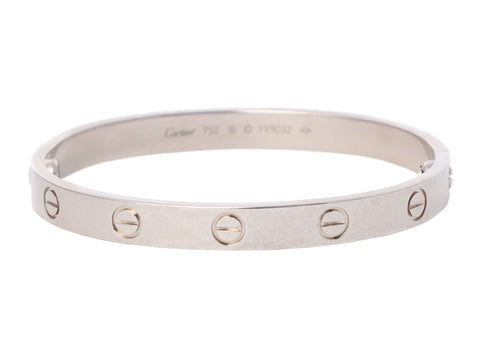 Cartier 18K White Gold Love Bracelet 16