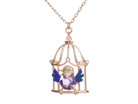 Cartier 18K Pink Gold Free as a Bird Pendant Necklace