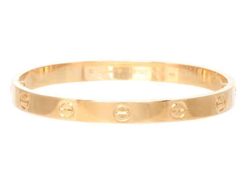 Cartier 18K Yellow Gold Love Bracelet 17