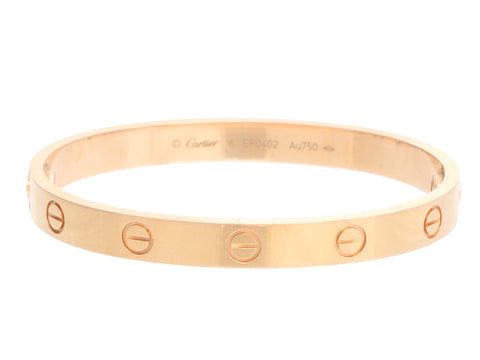 Cartier 18K Rose Gold Love Bracelet 16