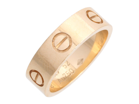 Cartier 18K Yellow Gold Love Band Ring