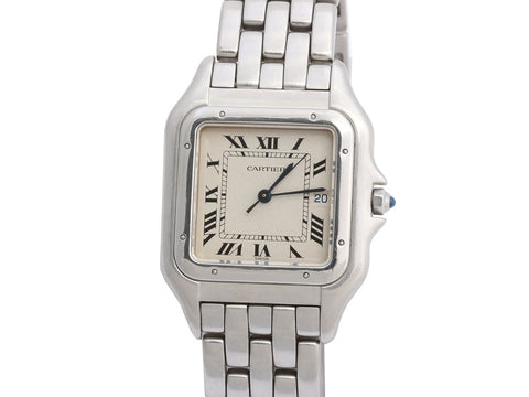 Cartier Stainless Steel Mens Panthère Watch 29mm