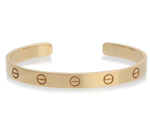 Cartier 18K Yellow Gold Love Cuff 17