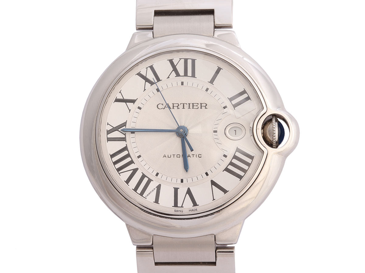 Cartier Stainless Steel Mens Ballon Bleu Watch 42mm