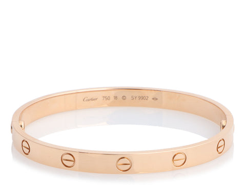 Cartier 18K Rose Gold Love Bracelet 18