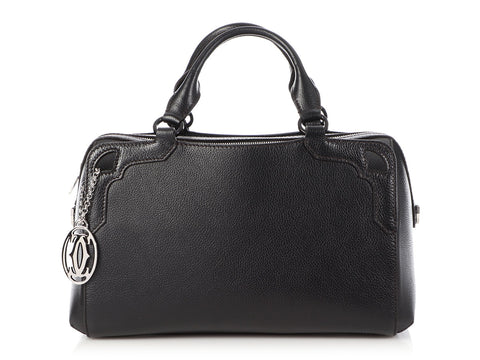 Cartier Black Marcello de Cartier Bowling Bag