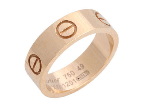 Cartier 18K Rose Gold Love Band Ring