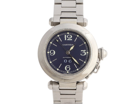 Cartier Stainless Steel Pasha C Midsize Big Date Watch 36mm