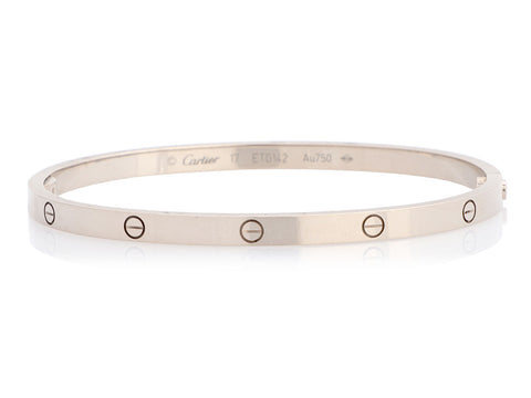 Cartier Small 18K White Gold Love Bracelet 17
