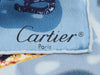 Cartier Small Blue Silk Scarf