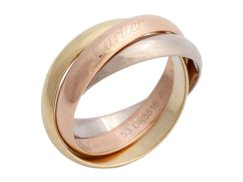 Cartier 18K Tricolor Gold Trinity Band Ring