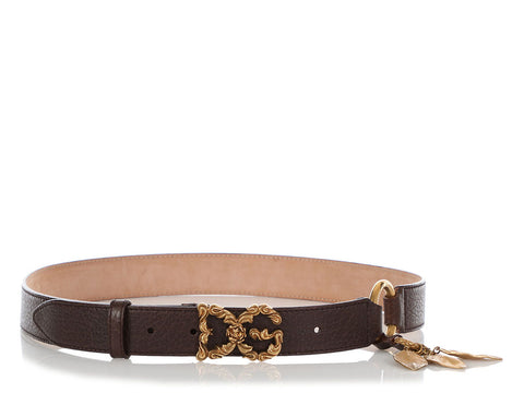 Dolce & Gabbana Brown Leaf Belt