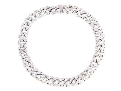 Pavé Diamond Curb Chain Bracelet