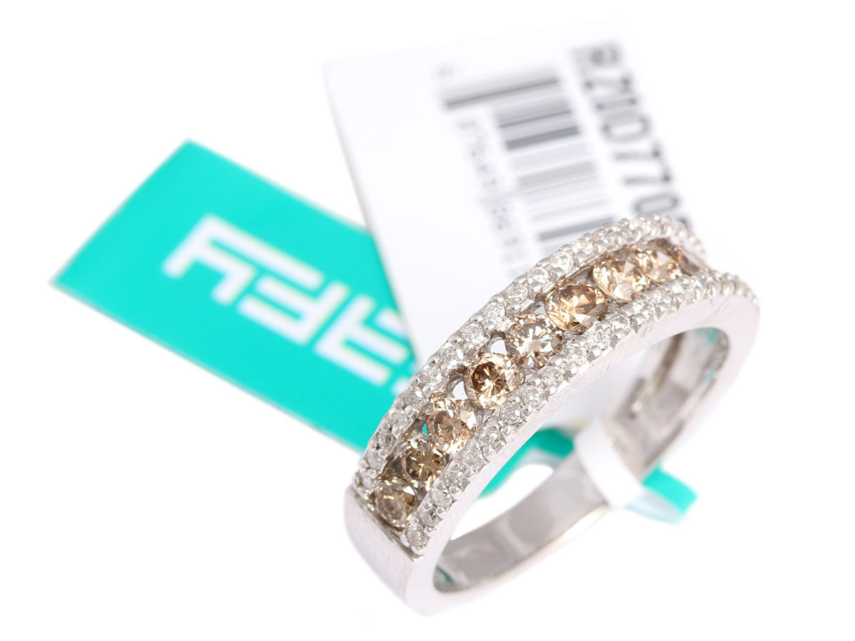 Effy Brown and White Diamond Ring