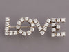 1.5 Carat Diamond and 14K White Gold Love Pin