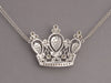 Diamond and 18K White Gold Crown Necklace