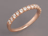 Diamond and 14K Rose Gold Half Band Ring