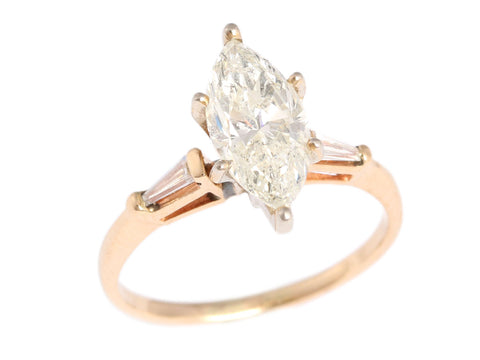 1.75 Carat Diamond Marquise Ring