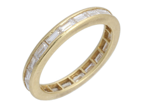 18K Yellow Gold Diamond Eternity Band Ring