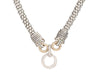 Sterling Silver and 14K Yellow Gold Diamond Pendant Necklace