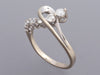 14K White Gold Diamond Swirl Ring