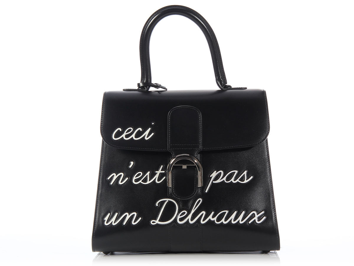 Delvaux Black L'Humour Brillant MM