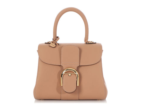 Delvaux Mini Rose Beige Brillant Bag