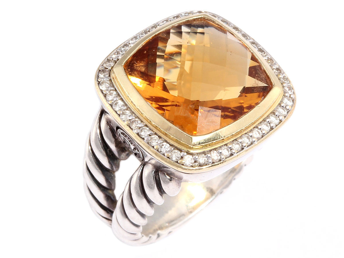 David Yurman Honey Citrine Albion Ring