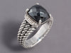 David Yurman Hematite and Diamond Petite Wheaton Ring