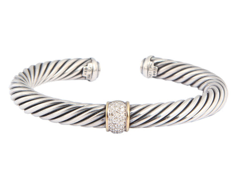 David Yurman Cable Classics Diamond Cuff