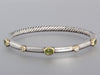 David Yurman Peridot and Diamond Bracelet