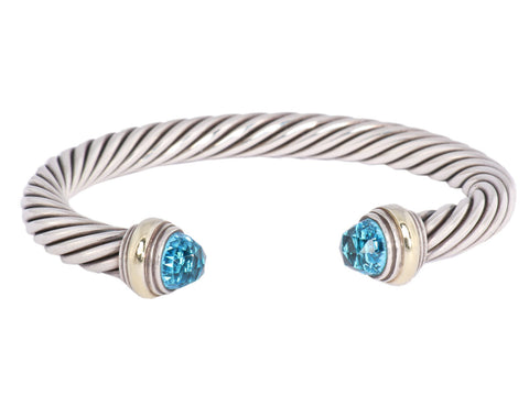 David Yurman Blue Topaz Cable Cuff
