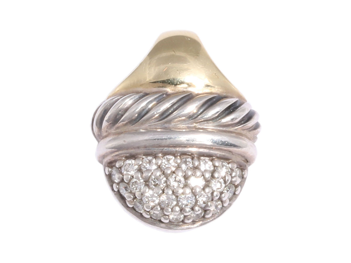 David Yurman Diamond Acorn Pendant