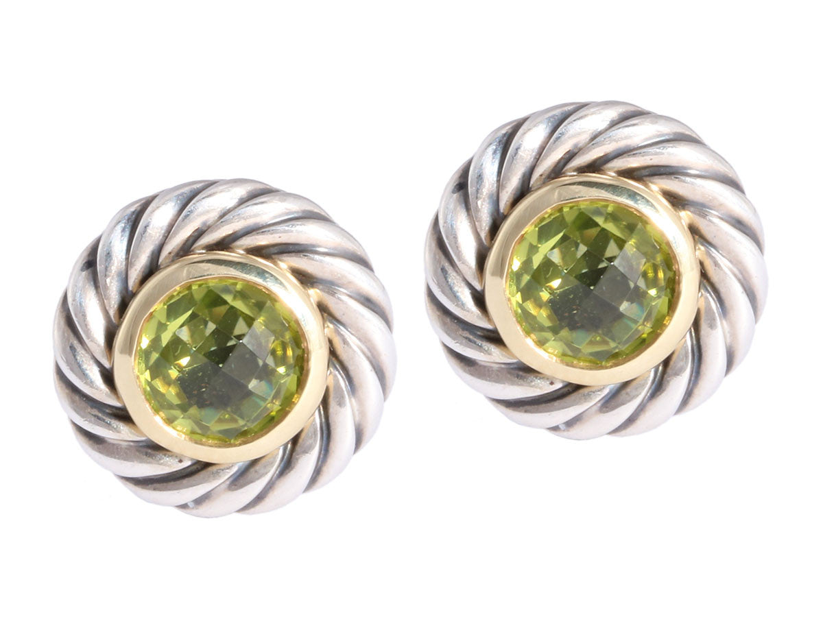 David Yurman Peridot Cookie Earrings