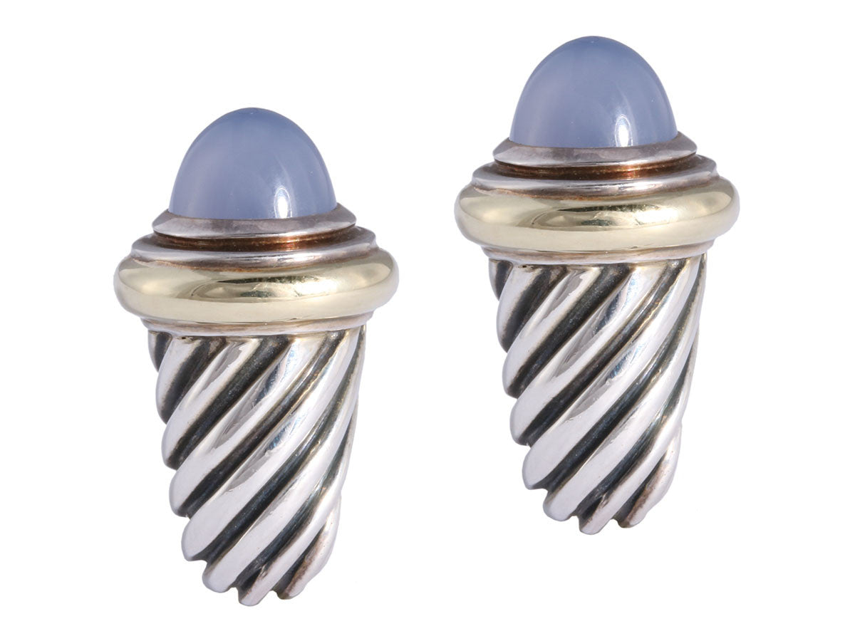 David Yurman Chalcedony Shrimp Earrings