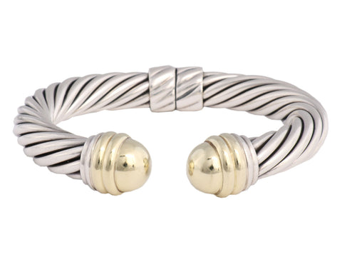 David Yurman Ten Millimeter Two Tone Cable Cuff