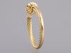 David Yurman 18K Gold Crossover Hoops