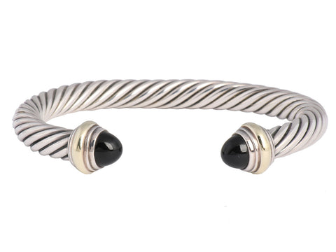 David Yurman Onyx Cable Cuff