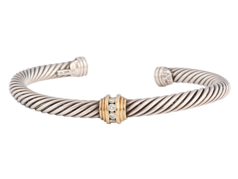 David Yurman Diamond Cable Cuff