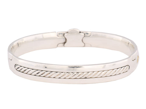 David Yurman Sterling Cable Inset Bangle