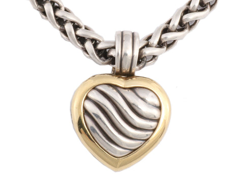 David Yurman Medium Heart Locket Necklace