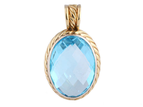 David Yurman Oval Blue Topaz Enhancer