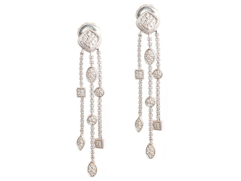 David Yurman Diamond Drop Earrings