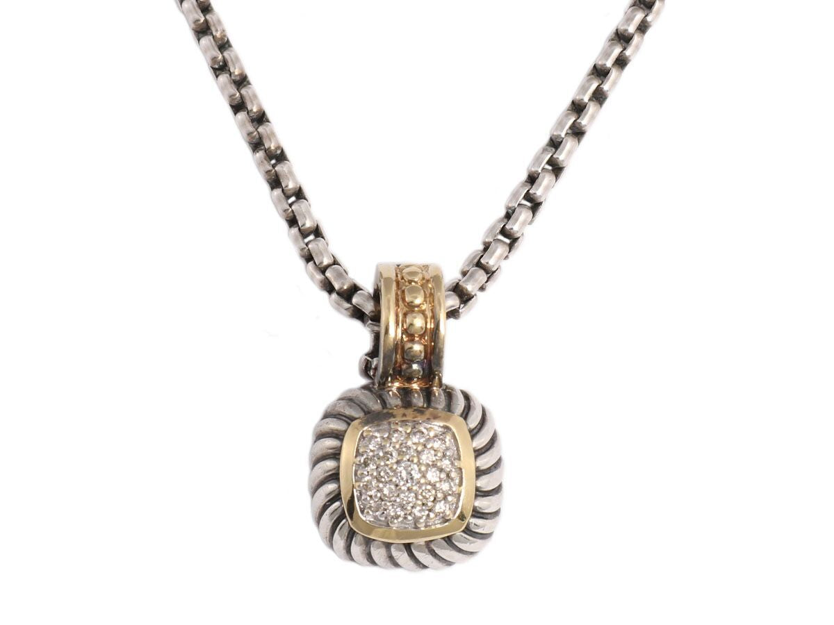 David Yurman Petite Diamond Pavé Albion Necklace