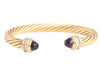 David Yurman Gold, Amethyst & Diamond Renaissance Bracelet
