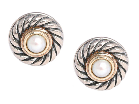 David Yurman Pearl Cookie Earrings