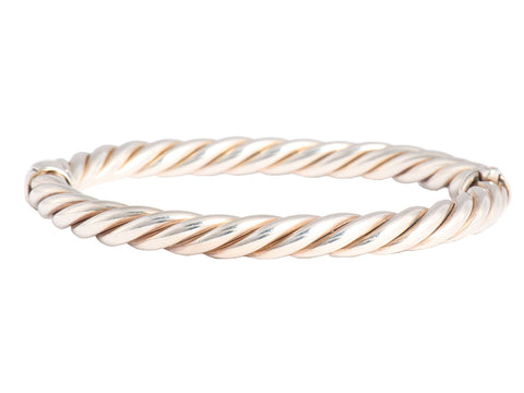 David Yurman Oval Cable Hinged Bangle