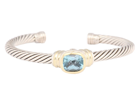 David Yurman Blue Topaz Albion Cuff